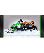 Arctic Cat Snowmobile Racing Snocross Garage Banner - Snow Chic #5 - $34.64