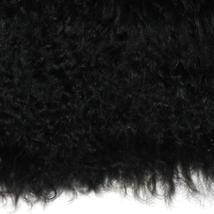 Pillow Decor - Mongolian Sheepskin Black Rectangular Pillow image 2