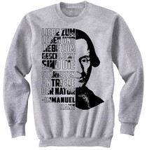 Immanuel Kant Liebe Zum - NEW COTTON GREY SWEATSHIRT - $31.88