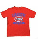 Majestic Montreal Canadiens Youth Logo T-Shirt - Red (Youth Small - 8) - $5.92