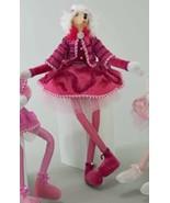 Katherine's Collection pink Poodle dog lanky leg doll Hot pink 18-844758 - $89.99