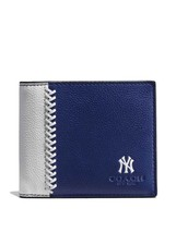 Coach Men's NY YANKEES Compact ID Wallet MLB Li... - $99.99