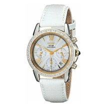 Seiko SSC878 Le Grand Sport Solar White Dial Women's Chronograph Leather Watch - $275.00