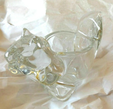 Vintage Avon Crystal Clear Votive Tealight Candle Holder Squirrel Animal... - $14.84