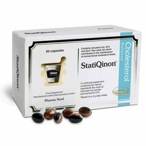 Statiqinon - 60 Tapas - Natural Colesterol Equilibrio con Linaza Oil Roj... - $31.54