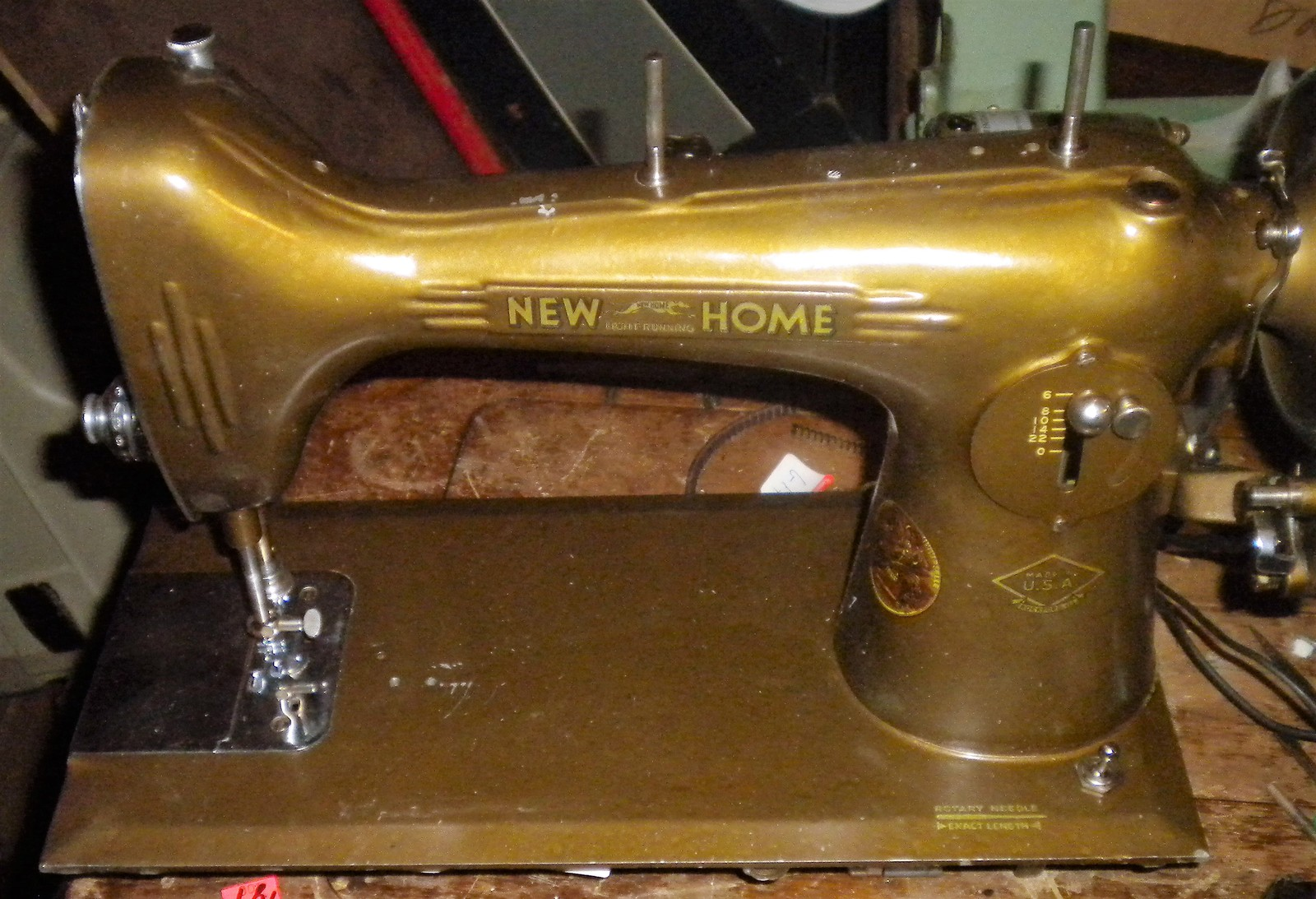 New Home NLB Bobbin Winder w/Two Mounting Screws image 4