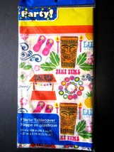 """Colorful Luau Island Party Lightweight Plastic Table Cover 54"""" x 108"""" BRAND NEW! - $6.92"""