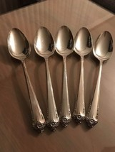"5 Rogers & Bro Reinforced Silverplate IS ""Starlight"" Tablespoons EUC! - $17.82"