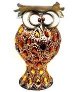 Vintage Large Owl Scrap Metal Modern Art Sculpture Home Decor Figurine - $49.50