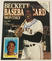 Beckett Baseball Card Monthly July 1987 Willie Mays Cover - $9.89