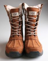 UGG Womens Chestnut Brown Leather Adirondack III Winter Snow Boots 1017430 NIB image 4