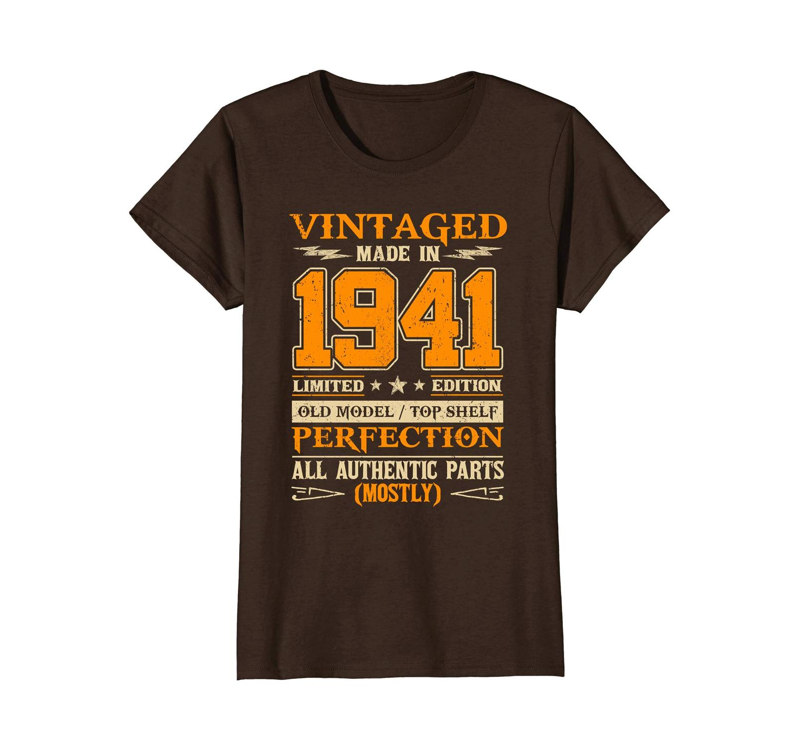 Funny Shirts - Legends Vintage Made In 1941 77th Birthday Gift 77 years old Wowe image 5
