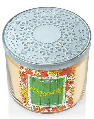 Bath & Body Works Honeysuckle Three Wick 14.5 Ounces Scented Candle image 4