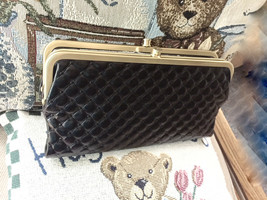 Hobo International Lauren Quilted Leather Clutch ~ Embossed Black - $84.89