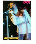 Miley Cyrus teen magazine pinup clipping white scarf singing at night Go... - $2.50