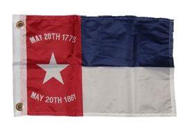 "12x18 12""x18"" NC North Carolina Republic 1775 1861 Motorcycle Flag Grommets - $18.00"
