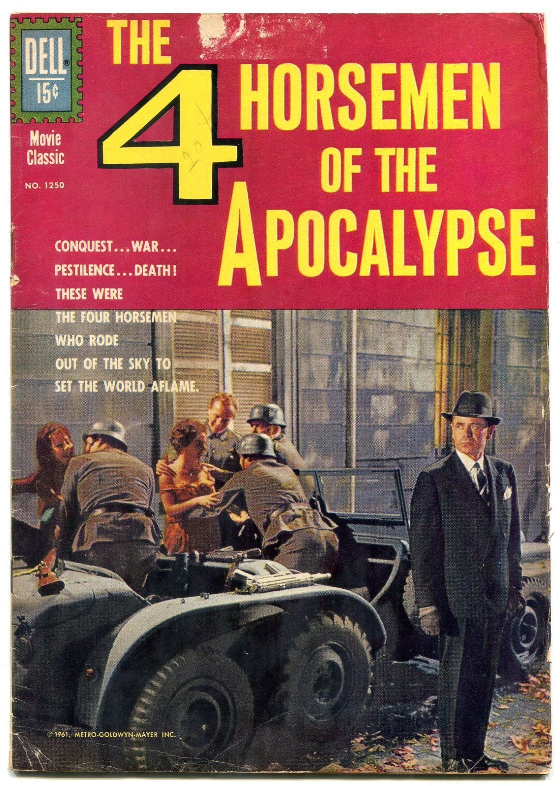 4 Horseman of the Apocalypse- Four Color Comics #1250 1961 G