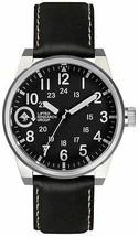 LRG Lifted Feld & Forschung Group Silber/Schwarz 40mm Stahl Uhr FIE-01011010 Nib