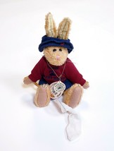 """Boyd's Bears Collection Jointed Bunny Rabbit W/ Butterfly Net & Clothes 11"""" Tall - $10.24"""