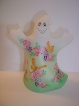 Fenton Glass Roses & Butterflies Ghost Figurine Ltd Ed GSE #3 of 10 Hall... - $212.92