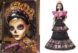 Barbie 2021 Female Dia De Los Muertos Day of The Dead Doll Mattel - $118.79