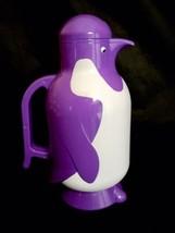 Vintage Metrokane The Penguin Thermal Carafe Rare Purple Hot Or Cold Bev... - $22.99