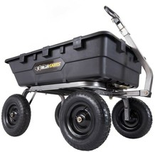 Gorilla Carts 1,500 lb. Super Heavy Duty Poly Dump Cart - $290.16