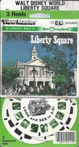 Walt Disneyworld Liberty Square 3d View-Master 3 Reel Packet - $19.52