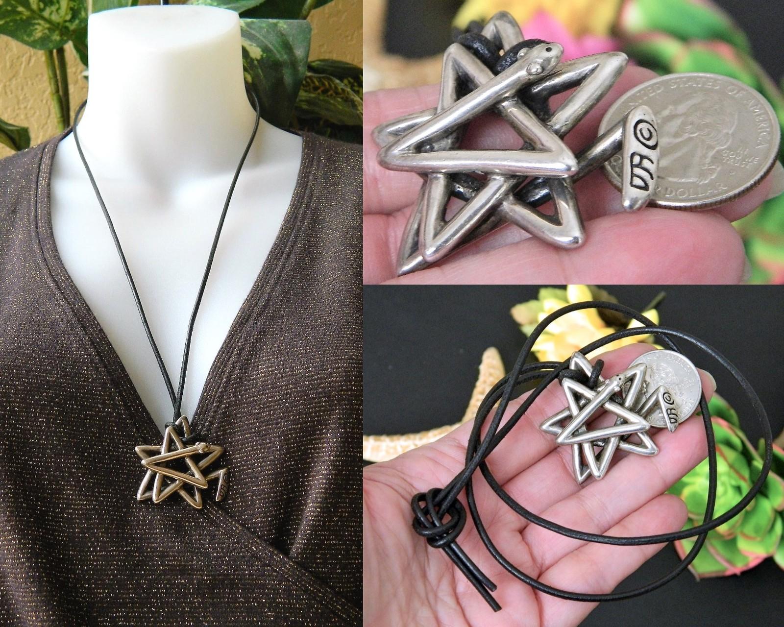 Star Snake Pendant Necklace Pentagram Sterling Silver Douglas Brett