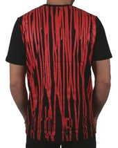 Dope Kontur Herren Schwarz Blut Rot Überlauf Farbe Tropf Grafik T-Shirt image 2