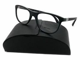 New Authentic Prada VPR 29S 1BO-1O1 Matte Black Eyeglasses 52mm w/ Case - $96.79