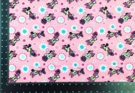 Minnie Mouse Winceyette 100% Brushed Cotton Fabric Material 3 Sizes - $8.36+