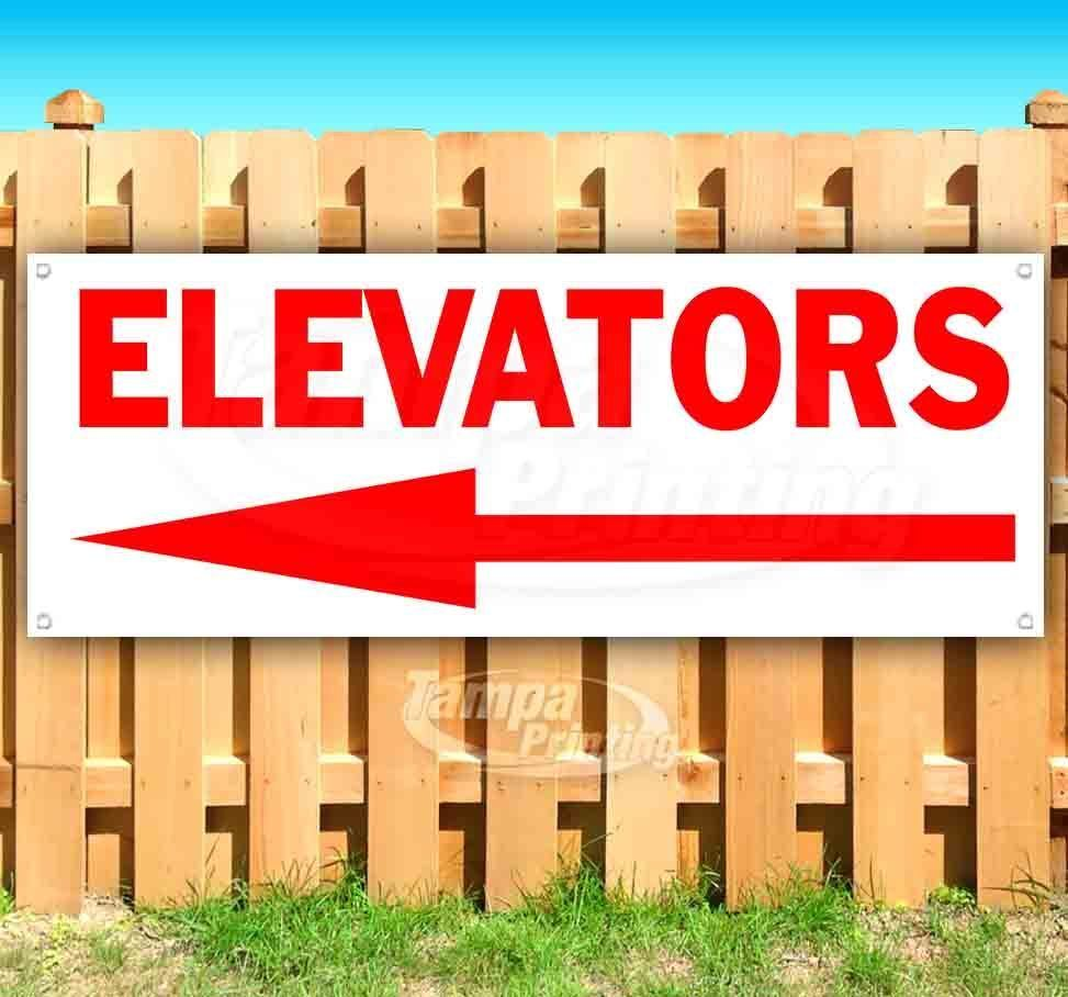 Primary image for ELEVATORS LEFT ARROW Advertising Vinyl Banner Flag Sign Many Sizes DIRECTIONAL