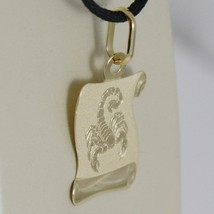 18K YELLOW GOLD ZODIAC SIGN MEDAL, SCORPIO, PARCHMENT ENGRAVABLE MADE IN ITALY image 2