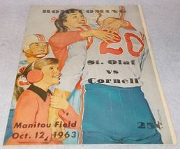 St Olaf Vs Cornell College Homecoming Football Manitou Field Oct 12 1963  - $19.95