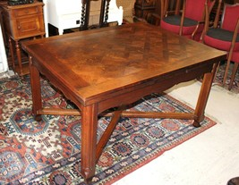 French Antique Oak Louis XV Draw Drop Leaf Dining Room Kitchen Table - $1,656.00