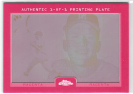 2007 Topps Chrome Mickey Mantle Story Framed Printing Plates Magenta (20... - $107.95