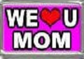 We Red Heart U Mom Wholesale Italian Charm In Stainless Steel 9MM 2017 - $7.16
