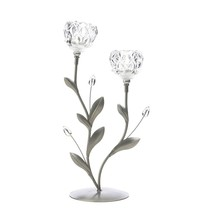 Crystal Flower Duo Candle Holder - $26.15