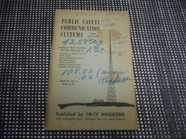 Old Vtg 1950 FM-TV MAGAZINE MANUAL PUBLIC SAFETY COMMUNICATIONS REGISTRY... - $19.79