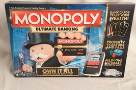 HASBRO MONOPOLY Ultimate Banking Board Game ~ Missing 2 player tokens - $21.77
