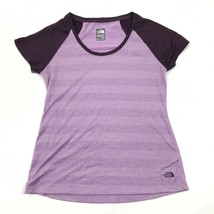 THE NORTH FACE Dry Fit Shirt Womens Size Medium M Purple Short Sleeve Ve... - $17.83