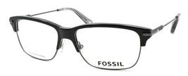 Fossil FOS 6056 OIP Men's Eyeglasses Frames 53-15-145 Ruthenium / Black + CASE - $79.00