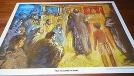 1964 Vintage Children's Print Paul Teaching In Rome Thomas Dahill - $7.92