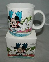 Walt Disney 1985 Mickey Mouse Swimming Diving Pool Ceramic Mug By Applau... - $29.58