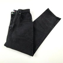 Vintage Tommy Hilfiger Mens Jeans Sz 38 X 34 Big Flag Patch Relaxed Blac... - $48.37