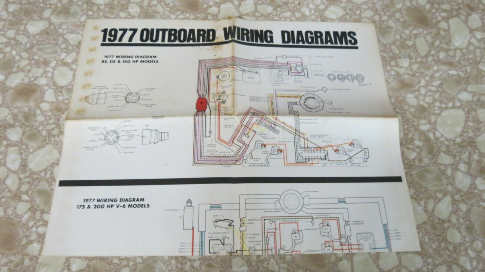 1977 OMC Johnson Evinrude Outboard 175hp 200hp V6 Models ...