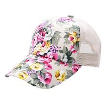 Female Floral Hat Baseball Cap Mesh Cap Spring and Summer Leisure Sun Vi... - £6.95 GBP