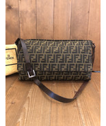 Authentic FENDI Brown Zucca Jacquard Crossbody Bag Unisex Mens - $575.00