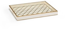 Tray CHELSEA HOUSE Antique Gold Accents Decorated Wood New - $219.00
